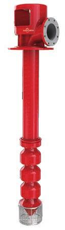 Vertical turbine fire pump Vertical, single and multi-stage, turbine pumps Characteristics