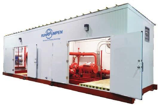 RP FIRE SYSTEMS NFPA-20 compliant Fire Pump Houses Completely pre-assembled and fully enclosed packages for a trouble-free and quick installation Our packaged