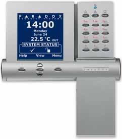 Keypad and Display Modules DNE-K07: Grafica Graphic LCD Keypad Module View zones on up to 32 floor plans Simple text- and icon-driven menus with step-by-step guidance Alarm clock and special